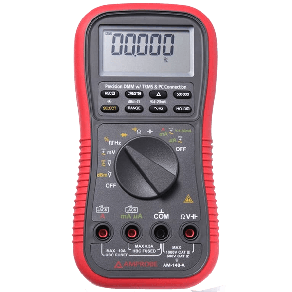 Amprobe AM-140-A True-rms Precision Digital Multimeter with PC Connection