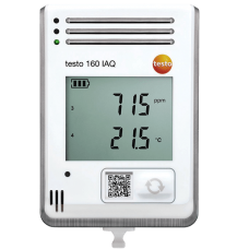 Testo 160 IAQ WiFi data logger with display and integrated sensors for temperature