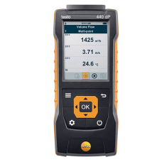 Testo 440 dP Air velocity and IAQ measuring instrument