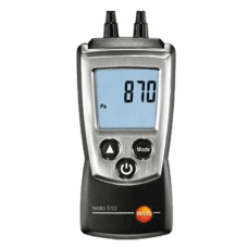 Testo 510 set differential pressure measuring instrument