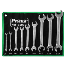 Proskit HW 7509B 9Pcs Double Open End Wrench