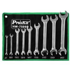 Proskit HW 7509B 9Pcs Double Open End Wrench